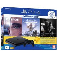 Ігрова консоль SONY PlayStation 4 Slim 1TB HZD+DET+The Last of Us+PSPlus 3М (9926009)