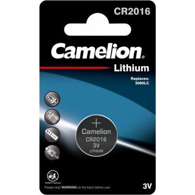 Батарейка CR 2016 Lithium * 1 Camelion (CR2016-BP1)