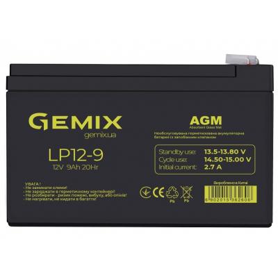 Батарея к ИБП 12В 9 Ач GEMIX (LP12-9)