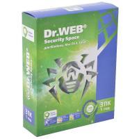 Программная продукция Dr. Web Security Space 10, 3 ПК 1 рік (BHW-B-12M-3-A3)