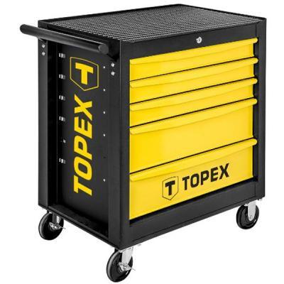 Тележка для инструмента Topex 5 ящиков, 680 x 460 x 825 мм, грузоподъемность 280 кг (79R501)