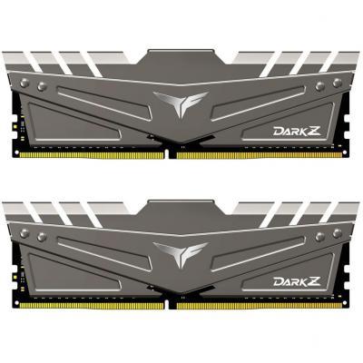 Модуль пам'яті для комп'ютера DDR4 16GB (2x8GB) 3200 MHz T-Force Dark Z Gray Team (TDZGD416G3200HC16CDC01)