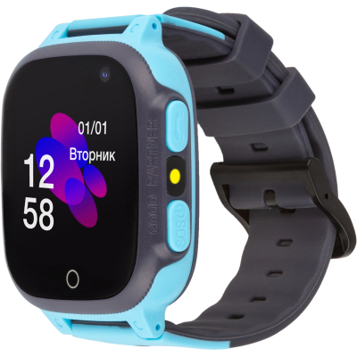 Смарт-часы ATRIX iQ2600 Cam Flash Blue Детские телефон-часы с трекером (iQ2600 Blue)