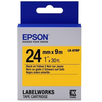 Лента для принтера этикеток EPSON LK6YBP (C53S656005)