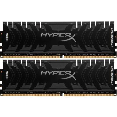 Модуль пам'яті для комп'ютера DDR4 16GB (2x8GB) 3600 MHz HyperX Predator Black Kingston (HX436C17PB4K2/16)