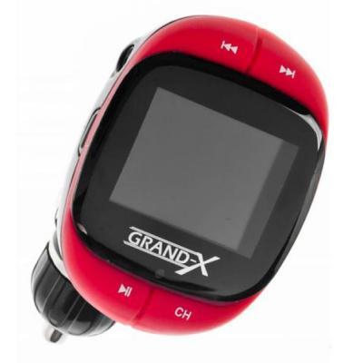Автомобильный MP3-FM модулятор Grand-X CUFM25GRX red SD/USB (CUFM25GRX red)
