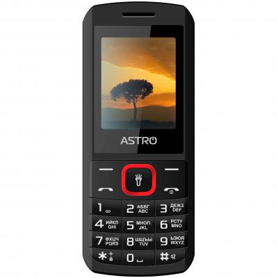 Мобильный телефон Astro A170 Black Red