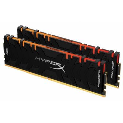 Модуль пам'яті для комп'ютера DDR4 64GB (2x32GB) 3600 MHz HyperX Predator RGB Kingston (HX436C18PB3AK2/64)