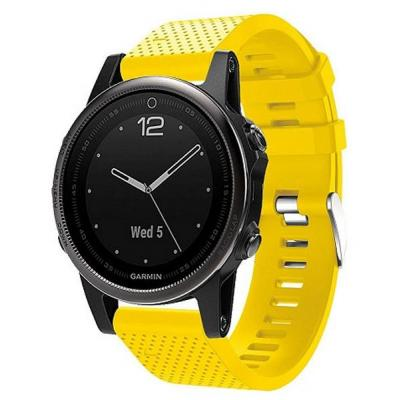Смарт-часы Garmin Fenix 5s Sapphire Black with Yellow Silicon (010-01685-37)