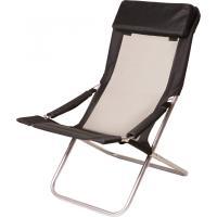 Шезлонг Time Eco Горизонт (с подушкой) черный (7100)