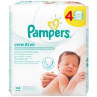 Влажные салфетки Pampers Sensitive 4x56 шт (4015400622079)