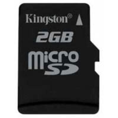 Карта памяти 2Gb microSD Kingston (SDC/2GBSP)