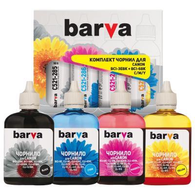 Чернила BARVA Canon BCI-3eBK + BCI-6BK/C/M/Y (4x90 г) SET (CBCI3-090-MP)