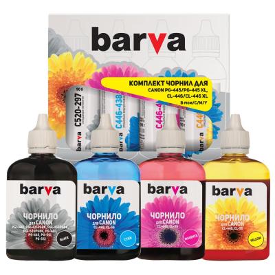 Чернила BARVA Canon PG-445 + CL-446 B/C/M/Y (4x90 г) SET (CPG445-090-PMP)