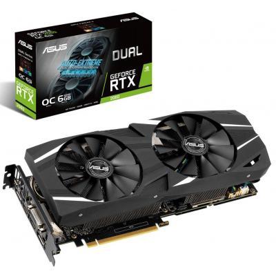 Видеокарта ASUS GeForce RTX2060 6144Mb DUAL OC (DUAL-RTX2060-O6G)