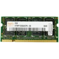 Модуль пам'яті для ноутбука SoDIMM DDR2 2GB 800 MHz Hynix (HYMP125S64CP8-S6 / HMP125S6EFR8C-S6)