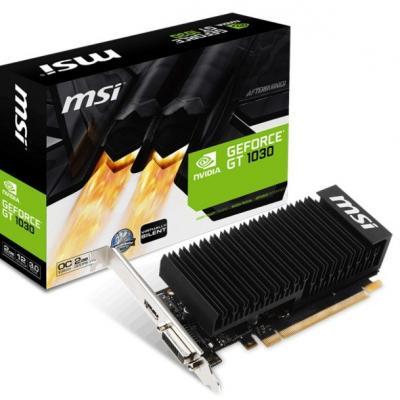 Видеокарта MSI GeForce GT1030 2048Mb Silent OC (GT 1030 2GH LP OCV1)