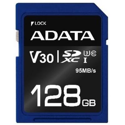 Карта памяти ADATA 128GB SDXC class 10 UHS-I U3 V30 (ASDX128GUI3V30S-R)