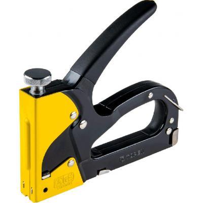 Степлер строительный Topex 6-14 мм, для скоб типа G, L, E, резиновая ручка (41E910)
