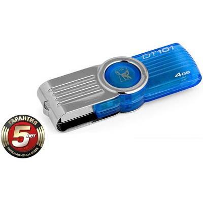 USB флеш накопитель 4Gb DataTraveler 101 G2 Kingston (DT101G2/4GB/DT101G2/4GBZ)