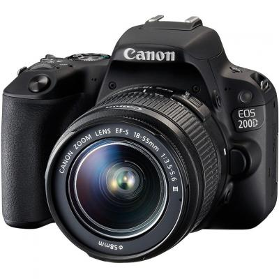 Цифровой фотоаппарат Canon EOS 200D 18-55 IS STM Black Kit (2250C017)