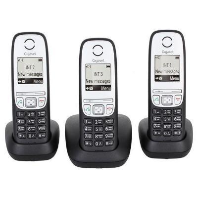 Телефон DECT Gigaset A415 TRIO Black (L36852H2505S311)