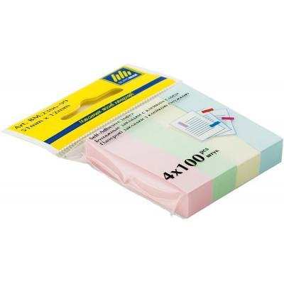 Канцтовары Закладки бумажные 51x12мм, 4х100л., BUROMAX (BM.2306-99)