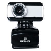 Веб-камера REAL-EL FC-130, black-grey