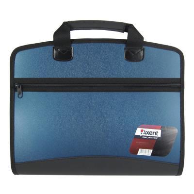 axent Папка - портфель Axent А4, 4 compartments, blue metallic (1621-12-А) 000805400