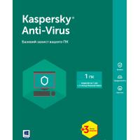 Антивірус Kaspersky Anti-Virus 2017 1 ПК 1 год + 3 мес Base Box (KL1171OUABS17)