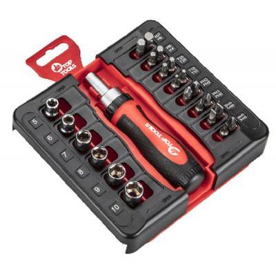Набор инструментов TOP TOOLS насадок с держателем, 23 ед. (39D186)