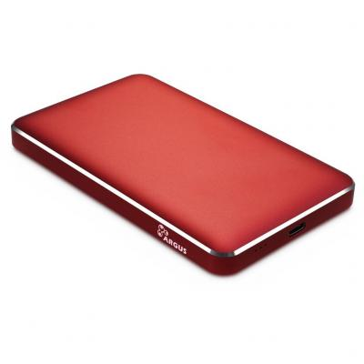 Карман внешний Argus 2.5' SATA III, max 4TB ,USB Type C, Al, red (GD-25609-RED)