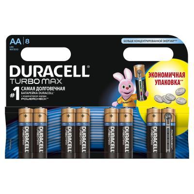Батарейка Duracell AA TURBO LR06 MN1500 * 8 (81417110 / 5279011)