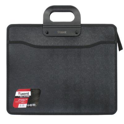 axent Папка - портфель Axent В4, 3 compartments, black, with zipper closure (1603-01-А) 000805402