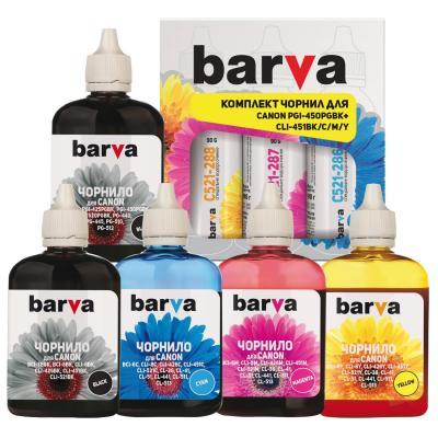Чернила BARVA Canon PGI-450PGBK + CLI-451BK/C/M/Y (5x90 г) SET (CPGI450-5-090-MP)