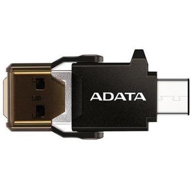 Считыватель флеш-карт ADATA microSD to USB A/C 3.1 (ACMR3PL-OTG-RBK)