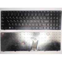 Клавіатура ноутбука Lenovo IdeaPad B570/B580/B590/V570/Z570 черная с черной рамкой RU (25-012632/25-12619/9Z.N5SSC.006/9Z.N5SSW.B1E/B5BSW 1E)