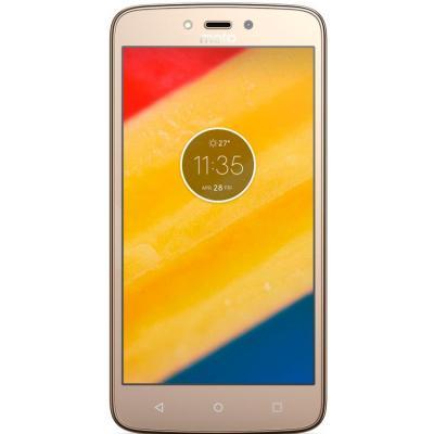 Мобильный телефон Motorola Moto C Plus (XT1723) Fine Gold (PA800126UA)