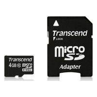 Карта памяти 4Gb microSDHC class 10 Transcend (TS4GUSDHC10)