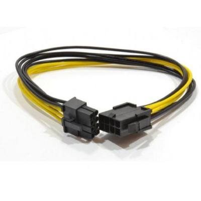 Кабель питания PCI express 6+2-pin power 0.3m extender Cablexpert (CC-PSU-84)