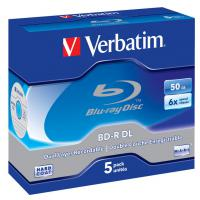 Диск BD Verbatim DL 50Gb 6x Jewel Case 5шт (43748)