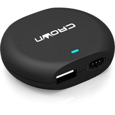 Блок питания к ноутбуку Crown 90W, автомобильный, + USB 5V 2.1A (CMLC-3294)