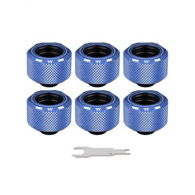 Фитинг для СВО ThermalTake Pacific C-Pro G1/4 PETG 16mm OD Fitting Kit - Blue (CL-W210-CU00BU-B)