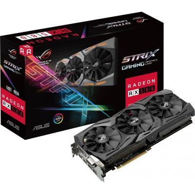 Видеокарта ASUS Radeon RX 580 8192Mb ROG STRIX GAMING OC (ROG-STRIX-RX580-O8G-GAMING)