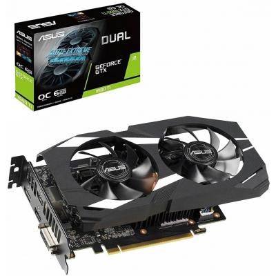 Видеокарта ASUS GeForce GTX1660 Ti 6144Mb DUAL OC (DUAL-GTX1660TI-O6G)