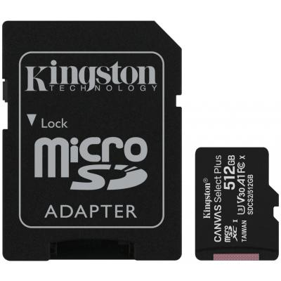 Карта пам'яті Kingston 512GB microSD class 10 A1 Canvas Select Plus (SDCS2/512GB)