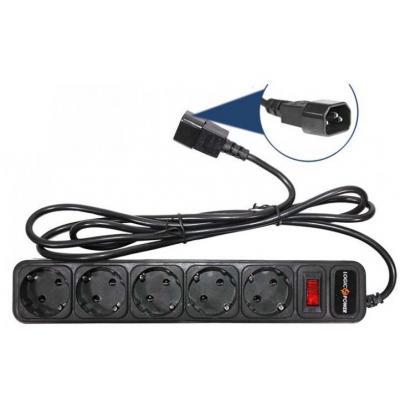 Сетевой фильтр питания LogicPower LP-X5-UPS 2.0м, 0, 75mm2, 10A (2753)