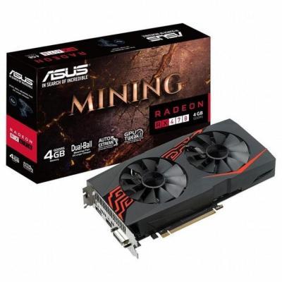 Видеокарта ASUS Radeon RX 470 4096Mb MINING DVI LED (MINING-RX470-4G-LED)