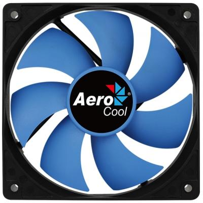 Кулер для корпуса AeroCool Force 12 PWM Blue 4P (4718009158023)