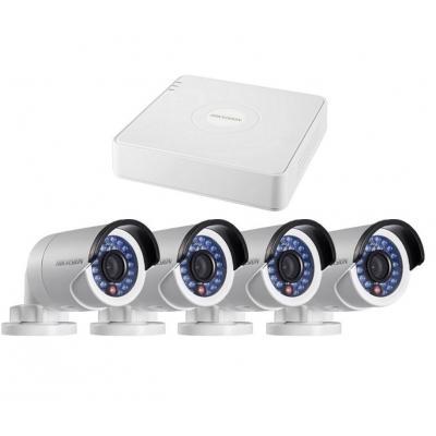 Комплект видеонаблюдения HikVision DS-J142I/7104HGHI-SH+4 DS-16D1T-IR (3.6) (20335)